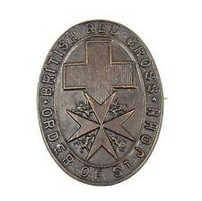 More details for world war one british red cross & order of st john bronze cap badge