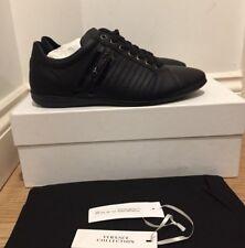 Versace Collection Nero etichetta con logo Sneaker Basse UK 10/EU 44