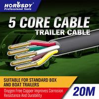 20M X 5 Core Wire Cable Trailer Cable Automotive Boat Caravan Truck Coil V90 PVC