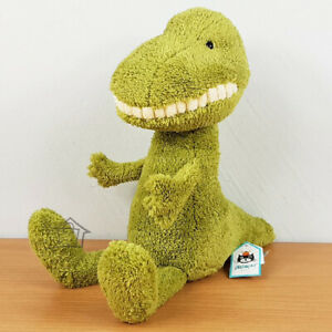 NEW Jellycat Toothy T Rex LARGE 36cm Green Soft Toy Dinosaur Jelly Cat Smile