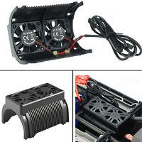 Super Motor Heatsink Shell Cover w/Dual Cooling Fans for 1/5 RC Traxxas X-Maxx