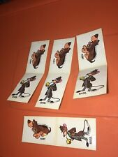 Vtg Rare Disney The Great Mouse Detective Toby Dog Basil Sticker Premiums 1986