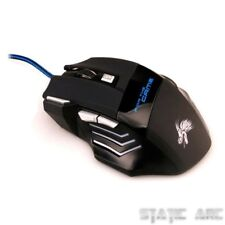 X3 GAMING MOUSE 5500 DPI ADJUSTABLE 7 BUTTON LED OPTICAL USB WIRED GAME MICE UK