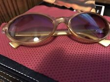 Vintage Fendi Fs232 Camel Rectangle Eyeglasses Sunglasses Frames Italy