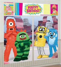 YO GABBA GABBA Scene Setter HAPPY BIRTHDAY party wall decoration kit over 6'