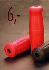 "poignee moto rouge vintage grip bobber chopper caoutchouc custom red 25 mm 1"""