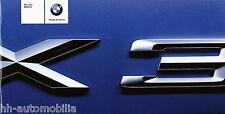 BMW X3 3.0i Prospekt 2003  brochure 3 11 003 179 10 2 2003 GM Autoprospekt Heft