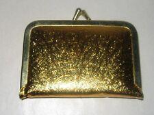 VINTAGE MINI POCKET SEWING KIT - GOLD COLORED - KISS LOCK - MADE IN HONG KONG