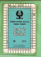 #D18. ADELAIDE OVAL CRICKET LADY'S TICKET 1984-85 #M 193
