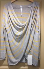 LULULEMON TWIST (And) & WRAP GREY WITH YELLOW GOLD STRIPES PHGB/HLGY NWT!! SZ 8