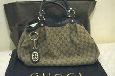 c88164a6982 Pre-loved Gucci Sukey Medium Original GG Tweed Tote Brown with original  dustbag