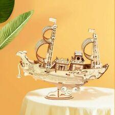 Robotime 3D Wooden Puzzle Japanese Ship Models Building Kits Gift for Adult Kids