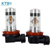 2X 100W H11 H8 H9 High Power For CREE 3000K Orange LED Fog Lights Bulbs US