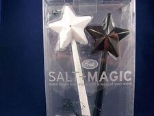 Fred's Salt+Magic Wands Plastic Novelty Salt & Pepper Shakers - NIB - 20B18HG