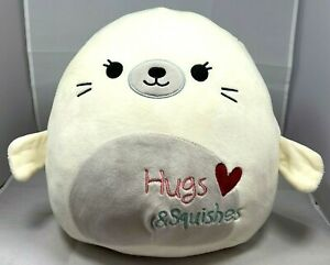 """Squishmallows 11"""" Lucille The Seal Hugs And Squishes Adorable"""