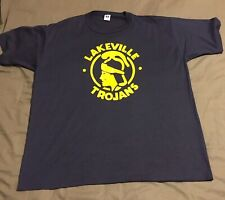 Vintage Russell Athletic Lakeville Trojans Mens T-Shirt Sz XXL 2XL Made In USA