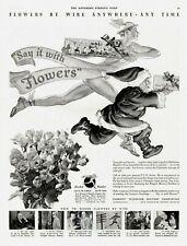 "1936 Original Vintage Ftd ""Say It With Flowers"" Magazine Ad"