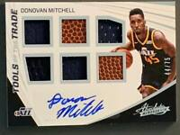 2017 Panini Absolute Donovan Mitchell Rookie Auto Tools of Trade 6 Relics SP /75