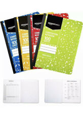 Basics Wide Ruled Composition Notebook 100 Sheet Assorted Marble Colors 4Pac