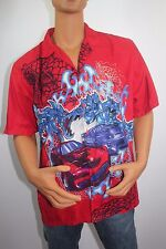 Cars Mens Shirt Large Sz L TD by Priority Male Blue Red Urban Club