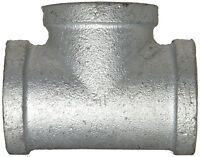 "New 3"" Galvanized Steel Straight Tee 3"" X 3"" X 3"" FNPT Thread"