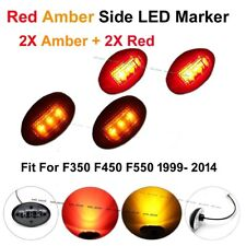 4X Red Amber Side Marker Fender Dually Bed Lights For Ford F250 F350 F450 99-14