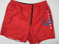 VINTAGE NAUTICA PERFORMANCE XL RED 90s GRAPHIC SAILING SWIMMING SHORTS PREOWNED