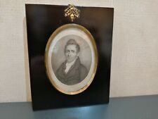 MINIATURE  OVAL PORTRAIT  OF  AN  EDWARDIAN ?  GENTLEMAN