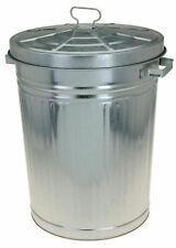 Zink Abfalleimer mit Deckel - 55 Liter - XXL Mülleimer draußen - Outdoor Tonne