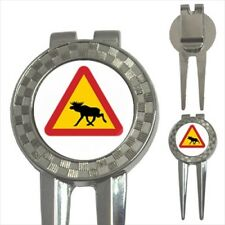 Yield For Moose Sign 3-in-1 Golf Divot Tool
