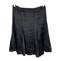 Alannah Hill Womens Skirt Size 10 Black 100% Silk Made In Australia Gorgeous