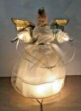 Animated Christmas Angel - 10 Light Tree Top / Table Top Decoration - Beautiful!