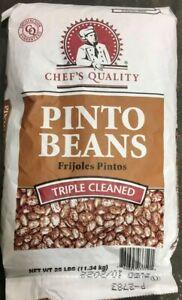 PINTO BEANS (Non-GMO, Kosher) BULK CHEF'S QUALITY TRIPLE CLEAN (VARIATIONS)