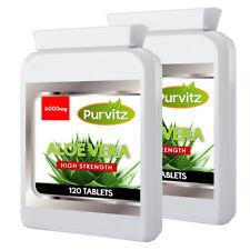 Aloe Vera Plante Gel Jus Extrait 240 Comprimés Détox Santé Peau Sont Probiotique