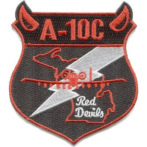A-10 USAF 107th Fighter Squadron Red Devils - Michigan NG  MILITARY PATCH