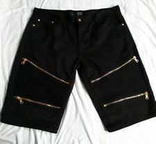 New York Premium Luxury Goods Black Jean Shorts Sz 42