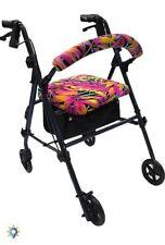Rollator Walker Seat Back Cover Style Medical Mobility Equipment Designer Set