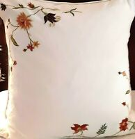 Pillow Sham Pottery Barn Euro - Embroidery Crewel Needlecrafts Cotton