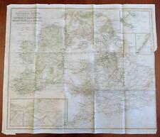 British Isles Rivers Canals Railroads Light Houses Coal Fields 1844 Copley map