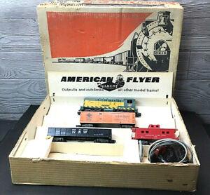 "Gilbert American Flyer 20410 Train Set with Box ""No Track"" 1950's Rare!!"