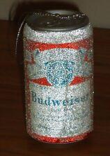 "BUDWEISER Beer Can Christmas Ornament w/Glitter 3"""