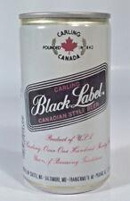 Vintage Carling Black Label Canadian Style Beer 12oz Can Aluminum Heileman