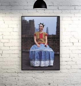 Frida Kahlo / Frida On The Rooftop, New York 1946 - Photograph Print