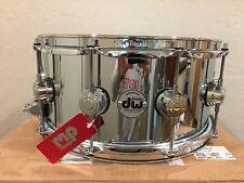 DW 6.5x14 Steel Chrome Polished Snare Drum W/chrome Hardware