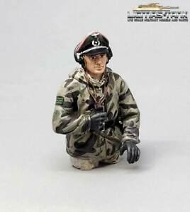 Figur bemalt Panzer Mannschaft Wehrmacht Splittertarn Halbfigur Kommandant 1:16