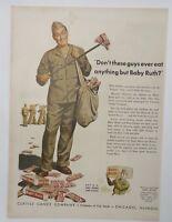 Original Print Ad 1943 CURTISS CANDY Baby Ruth Servicemen WWII