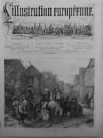 1875  BOHEMIENS BULGARES MONTREURS OURS DRESSES SPECTACLE PLACE VILLAGE