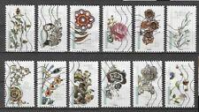 Lot série timbre france adhésif complète fleurs et métier d'art 2017