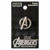Avengers Logo Pewter Silver Color Lapel Pin