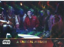 Star Wars Force Awakens Chrome Prism Refractor Base Card #80 A Critical Mission